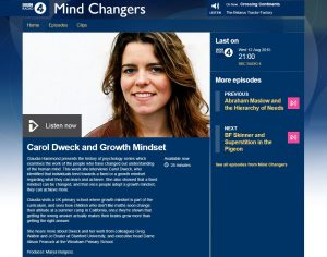Screenshot of BBC Radio 4 website
